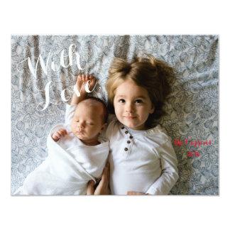 With Love custom Christmas or holiday photo card 11 Cm X 14 Cm Invitation Card