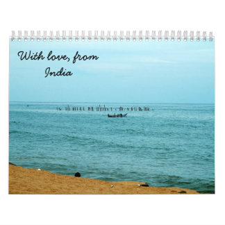 With Love from India Wall Calendar