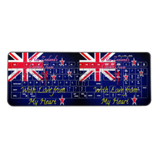 With Love From My Heart New Zealand Cricket Design Wireless Keyboard