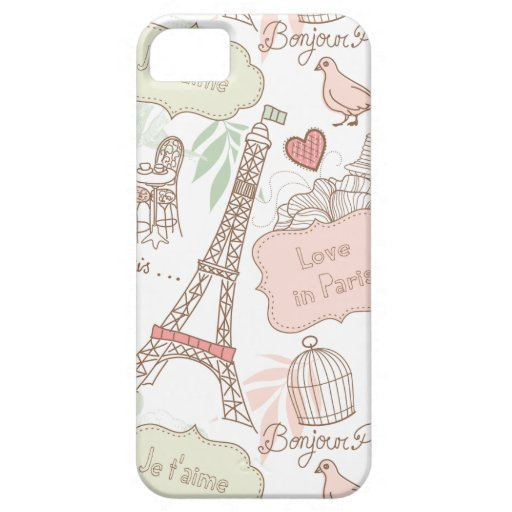 With Love From Paris iPhone 5 Covers