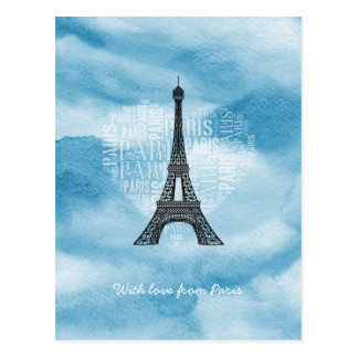 With love from Paris Postcard