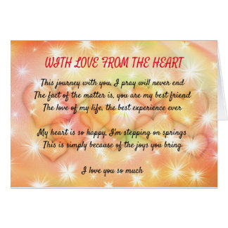 With Love From The Heart Inspirational Card