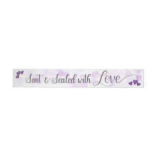 """With Love"" Handlettered Envelope Sealing Sticker Wraparound Address Label"