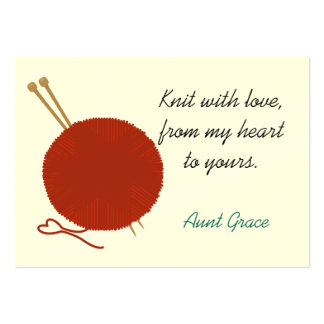 With Love Knitter's Hang Tag Pack Of Chubby Business Cards