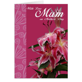 With Love Mum on Mother's Day, Mother's Day card
