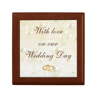 With love on our Wedding Day Small Square Gift Box