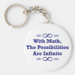 With Math, The Possibilities Are Infinite Basic Round Button Key Ring