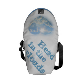 With my head in the clouds messenger bag