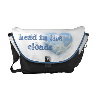 With my head in the clouds messenger bags