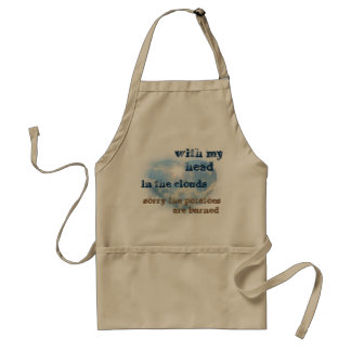 With my head in the clouds standard apron