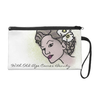 With Old age comes beauty Matte lady bag Wristlets