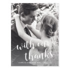 With Our Thanks   Wedding Photo Thank You Postcard