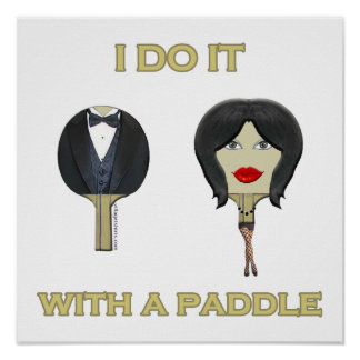 With Paddle Ping Pong Posters