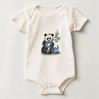 with Piet Panda Baby Bodysuit