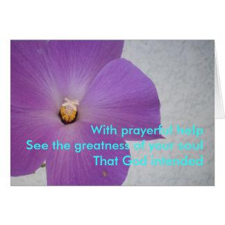 With Prayerful Help Card