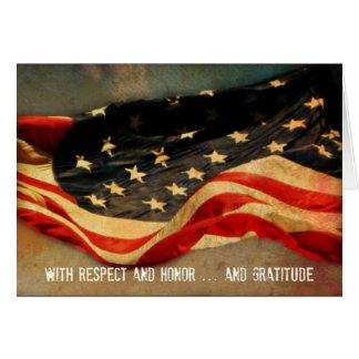 With Respect, Honour  - Thank You Veterans Day Card