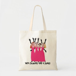With Sequins and  Song! Budget Tote Bag