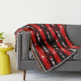 With sharp throw blanket