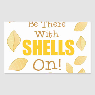 With Shells On Rectangular Sticker