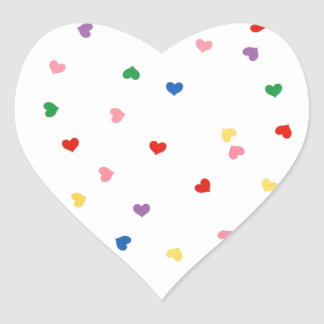 with small hearts heart sticker