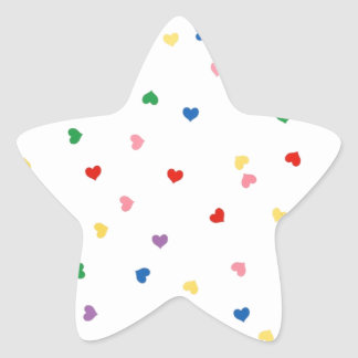 with small hearts star sticker