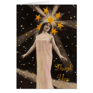 With Stars on Her Head Thank You Card