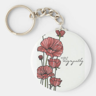 With Sympathy Basic Round Button Key Ring