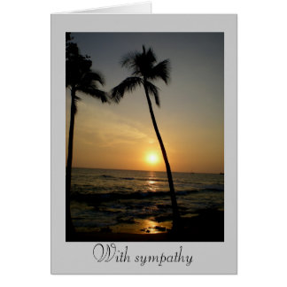 With Sympathy Greeting Card
