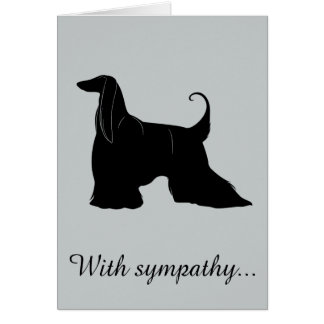 With Sympathy: Loss of Your Afghan Hound Card