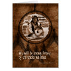 With Sympathy Native American Wolf Dreamcatcher Card