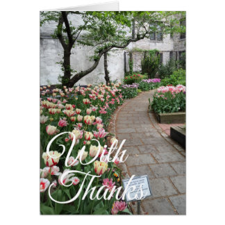 With Thanks Thank You Tulip Garden New York City Card