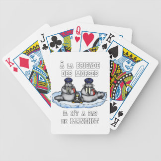 With the BRIGADE OF the MORSES there is no PENGUIN Bicycle Playing Cards
