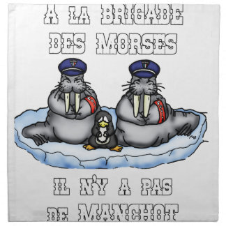With the BRIGADE OF the MORSES there is no PENGUIN Napkin
