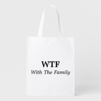 With The Family Reusable Bag Reusable Grocery Bags