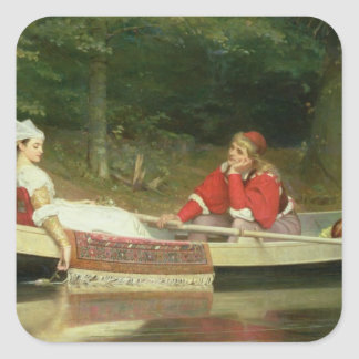 With The River, 1869 Square Sticker