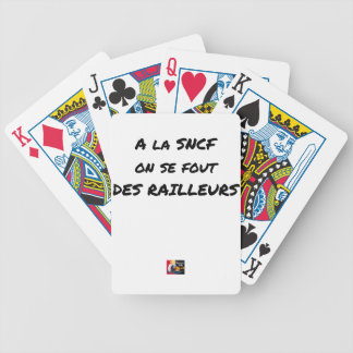 WITH the SNCF ONE SE FOUT OF the SCOFFERS - Word Bicycle Playing Cards