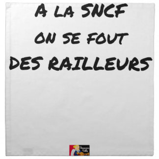 WITH the SNCF ONE SE FOUT OF the SCOFFERS - Word Napkin