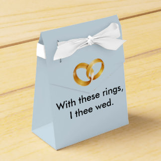With these rings I thee wed Favour Boxes