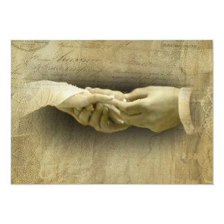 With this Ring, Romantic Vintage Wedding Love 13 Cm X 18 Cm Invitation Card