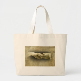 With this Ring, Romantic Vintage Wedding Love Jumbo Tote Bag