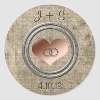 With This Ring... Round Sticker