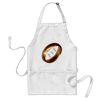 With This Ring Wedding Apron
