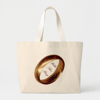 With This Ring Wedding Tote Bag
