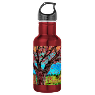 with Tree Art 532 Ml Water Bottle