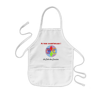 With your cass' roles! kids apron