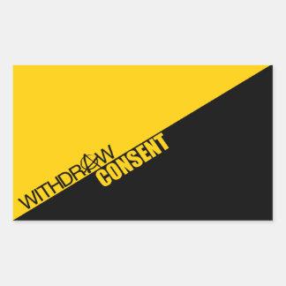 Withdraw Consent (Anarcho-Capitalism) Rectangular Sticker