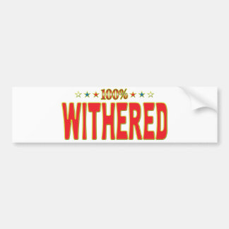 Withered Star Tag Bumper Stickers