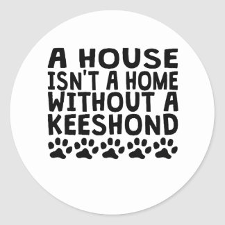 Without A Keeshond Classic Round Sticker
