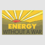 Without A War Solar Stickers