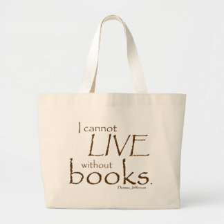Without Books Jumbo Tote Bag